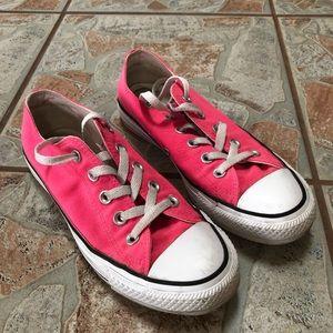 Neon Pink Converse All Stars